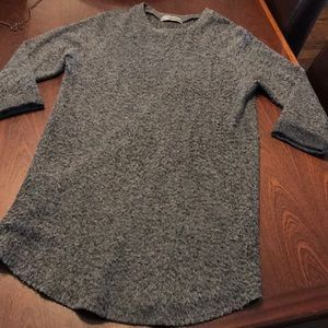 Gray fuzzy tunic dress- XS
